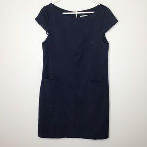 Eliza J knit shift dress navy blue size 14